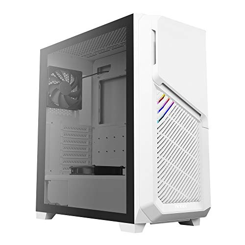 Antec DP502 FLUX Mid Tower Tempered Glass PC Gaming Case - Wh