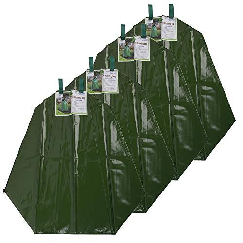 Preisvergleich Produktbild Nature by Kolibri Baumbewässerungssack 55 / 75 Liter Fassungsvermögen Wassersack - Langzeit Bewässerung für Ihre Bäume - Tröpfchensystem aus strapazierfähigem PVC Material (4X 55 Liter)