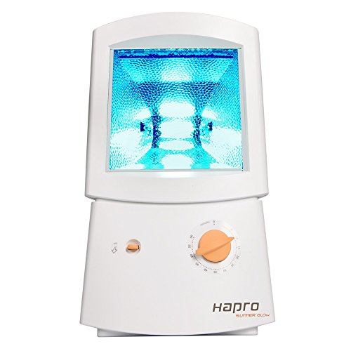Hapro Glow HB 404 - Bronceador facial (3 m, 75 W, 50 Hz, 220-230 V, 260 mm, 200 mm) Color blanco