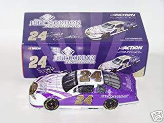 Nascar Jeff Gordon #24 Monte Carlo 2001 Purple & White Foundation Car Action Racing Collectables 1/24 by Revell
