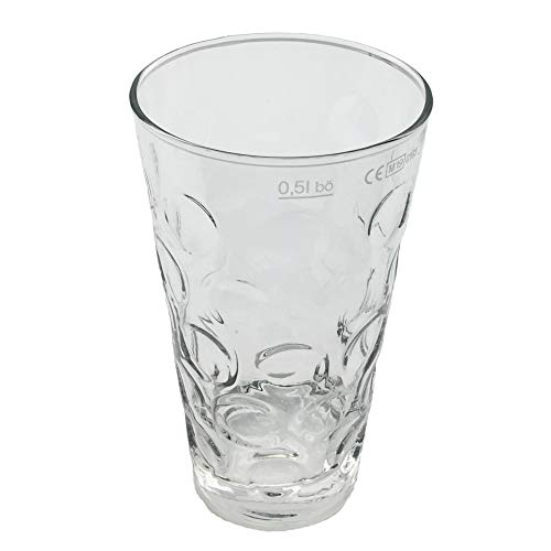 6 x 0,5 L Premium Dubbeglas für Pfälzer Schorle - Original Pfalz Schoppenglas Weinglas Weißweinglas Schorleglas Saftglas
