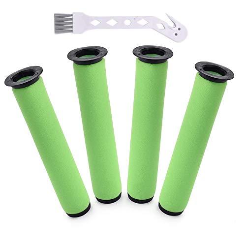 Achort 4 Packungen Ersatzfilter für Gtech AirRam Filter für kabellose AirRam MK2 & Air Ram MK2 K9 Staubsauger (inkl. Reinigungsbürste).