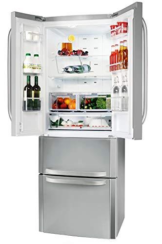 Bauknecht KSN 19 IN NoFrost Compact French Door / LED-Licht / 0° Food Care Zone / Umluftkühlung / QuickIce / Superkühlfunktion / Türen in Edelstahloptik