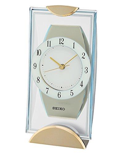 Seiko Tischuhr gold Kunststoff QXG146G
