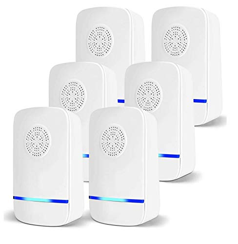 Ultrasonic Pest Repeller Plug in, 6 Pack Electronic Pest Repellent, Upgraded Pest Control Reject Device for Insects Bugs Mice Roaches Mosquito Rats Spiders Flea Mouse Cockroach Ants
