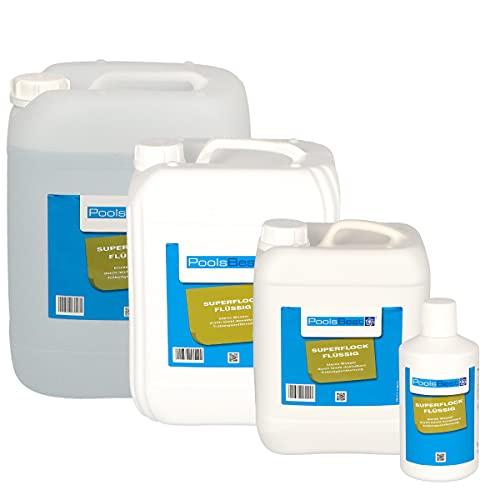 POOLSBEST® 5 L Superflock flüssig für Pool - hochkonzentriertes Flockungsmittel fürs Schwimmbad - flüssiger Trübungsentferner für Sandfilter
