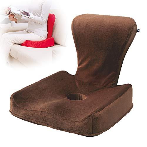 XM-CUSHION Therapeutische Orthopädische Sitzkissen für Sitzhaltung, Kissen 3D-Korrektur Sitzhaltung Speicher Wattepad Anti-Buckel-Spine Taille Hüfte Kissen für Kinder Erwachsene Kissen,Braun