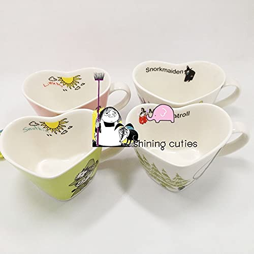 YYSD Cute Little My Hippo Heart Peach Style Special Cartoon Taza de café de Porcelana Colección de Regalos de cumpleaños