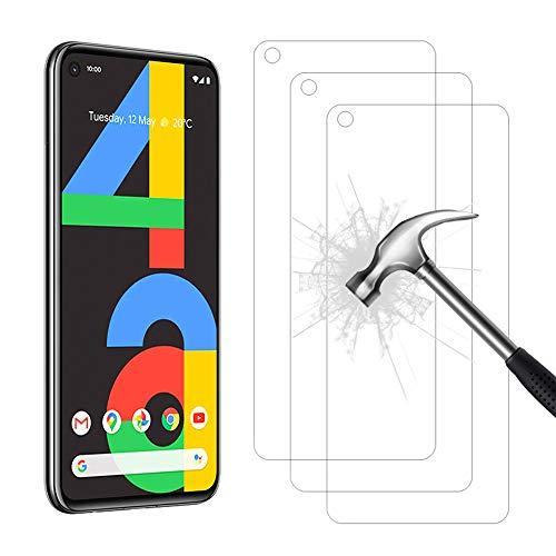 AHABIPERS 3 Stück Schutzfolie für Google Pixel 4A, HD Bildschirmschutzfolie, 9H Festigkeit Schutzfolie, Anti-Kratzer/Bläschen/Fingerabdruck/Staub Panzerglasfolie für Pixel 4A