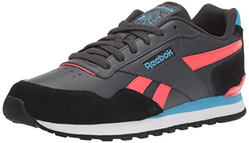 Reebok Men's Classic Harman Run Shoe, Grey/Black/Neon Red, 12 M US