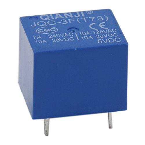 5 Pcs JQC-3FF-S-H DC 5V Bobine SPST 4 Broche PCB Relais puissance /électromagn/étique