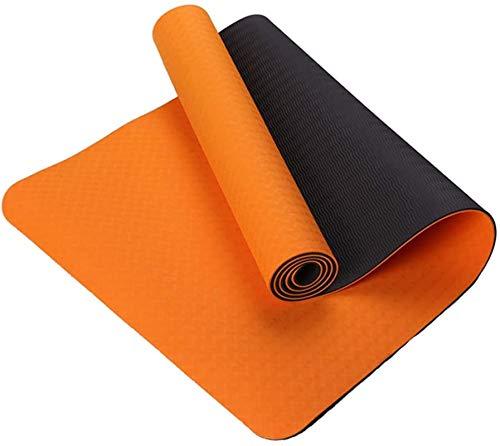 EIIDJFF Esterillas Yoga Antideslizante con Malla Resistente Al Desgarro Son Más Duraderos (Color : Orange+Black)