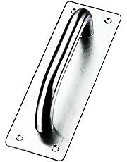 Schuifdeurgreep, Tiberham Heavy Duty RVS trekdeurgrepen met achterplaat, Gate Handle Toiletdeur Pull Plate Houten kast handvat Hardware (200 x 65 mm)