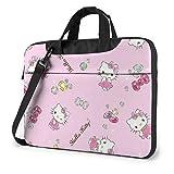 Kitty Busin - Maletín para ordenador portátil de 15,6 pulgadas, color rosa