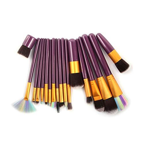 WEKDU Maquillage Brush Set Contour Fondation fard à joues professionnelle fard à paupières Eyeliner Blending Lip Brosses cosmétiques outil de beauté, 18 pièces