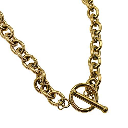 Collar famoso MOONRIVER 20100250/16 para un regalo, chapado en oro antialérgico de acero inoxidable quirúrgico BLUEBERRY AISADI TTM XUPING STAINLESS STALESS SUNLIGHT