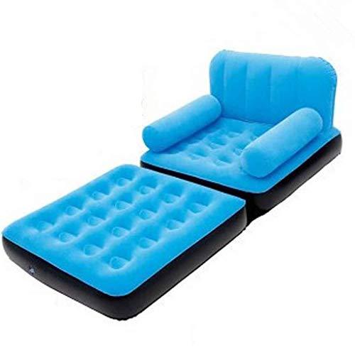 Sofá Inflable Perezoso sillón Perezoso sofá para Interiores/Exteriores inflables a Prueba de Agua, sofá soplado a Prueba, Playa, Parque, Piscina, Picnic (Color : Blue)