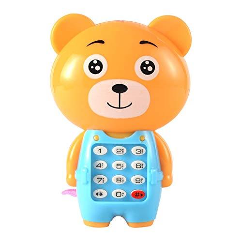 SENZHILINLIGHT 1 pieza de juguete electrónico teléfono musical lindo niños teléfono juguete educación temprana dibujos animados teléfono niño juguetes color al azar