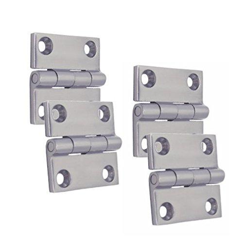 4 Stück Edelstahl Scharnier Türband Türscharnier Edelstahlscharnier Beschlag 50 mm V4A