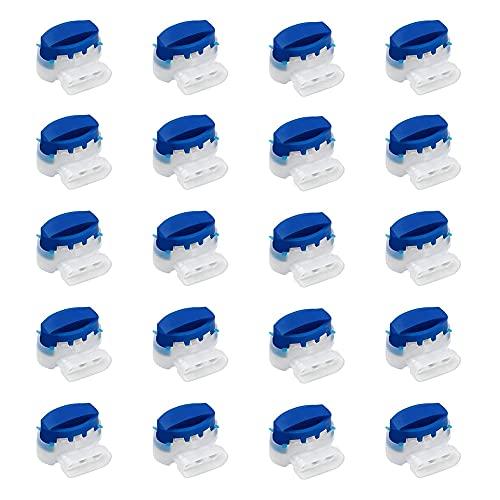 iKesoce 20 Pezzi Morsetti per Cavi Impermeabile Cavo Connettore con Gel per Rasaerba Robot Giardino Outdoor Husqvarna Automower