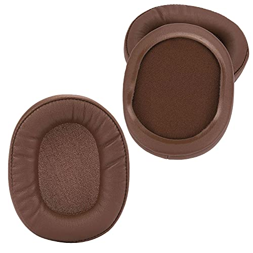 Replacement Ear Pads Earpads Cup Cover Memory Foam Cushion for Audio-Technica ATH-MSR7 M50X M20 M40 M40X Bluetooth Wireless Headphones, 2 Pack (Brown)
