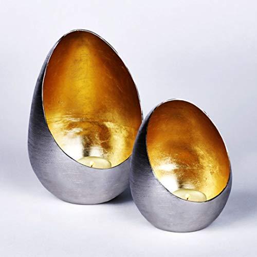 Lambert - Windlicht Casati - Klein - Gebürstet/Gold - H14Cm x D 11 - Eisen - 1Stück