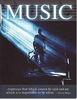 音楽は、音楽とは言えないものを表現しています。インチティンサインヴィンテージアイアンペインティングメタルプレートノベルティデコレーションクラブカフェバー。