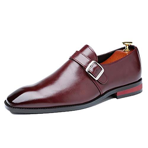 Zapatos de Vestir para Hombre Mocasines con Hebilla de Negocios Zapatos Oxford de Oficina Zapatos de Cuero de Fiesta de otoño para Hombre