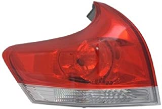 Go-Parts - OE Replacement for 2009 - 2012 Toyota Venza Rear Tail Light Lamp Assembly / Lens / Cover - Left (Driver) Side Outer 81560-0T010 TO2804109 Replacement For Toyota Venza
