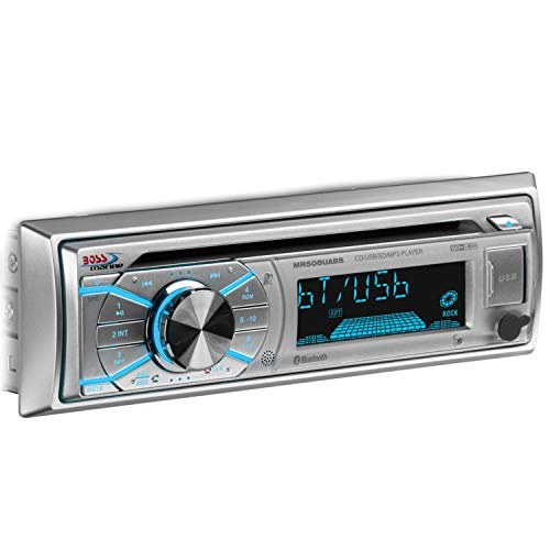 BOSS Audio Systems MR508UABS Marine Stereo - Single Din, Bluetooth, CD MP3 WMA USB AM FM Radio, Weatherproof