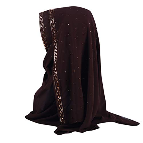 ZZBO Damen Gesichtsschleier Hidschab Schal Ramadan Kopfbedeckung Hijab Atmungsaktivem Chiffon Kopftuch Hoodie Mütze Elegante Islamischen Kopfbedeckung Muslimischen Kopfschmuck Schalmütze