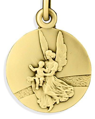 Glorieux Chapado en Oro católica Saint Medalla de ángel de la Guarda en y Camino