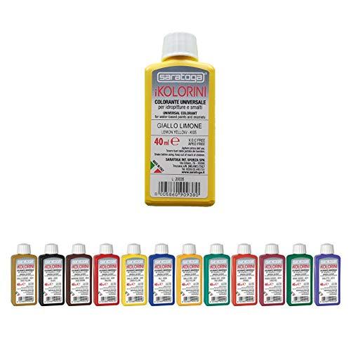 Colorante per Idropitture e Smalti iKOLORINI 40 ml SARATOGA (KE02 Nero)