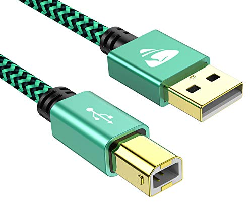 USB Druckerkabel, USB B 2.0 Kable【2M】 USB A auf USB B Drucker Kabel PC Scannerkabel Printer Cable Kompatibel für HP, Epson, Dell, Canon, Lexmark, Xerox, Brother, Samsung