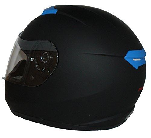 Protectwear Motorradhelm V121-BL schwarz-blau matt – M - 6