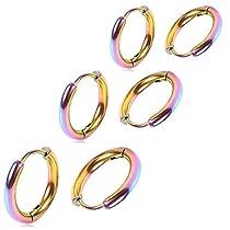 Adelina Style(アデリナスタイル) フープピアス 幅2.5mm メンズ レデ...