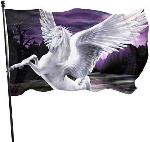N/A American Guard Vlag Banner Welkom Vlaggen Gevleugelde Paard Opknoping Premium Kwaliteit Yard voor Vakantie Patio Gazon Decoratie 3x5 Voet