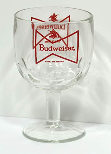 Budweiser Beer Glass Goblet 6' Tall