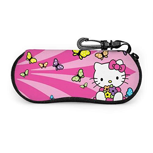 Hello Kitty - Funda para gafas de sol con cremallera, portátil, para viajes, bolsa de gafas
