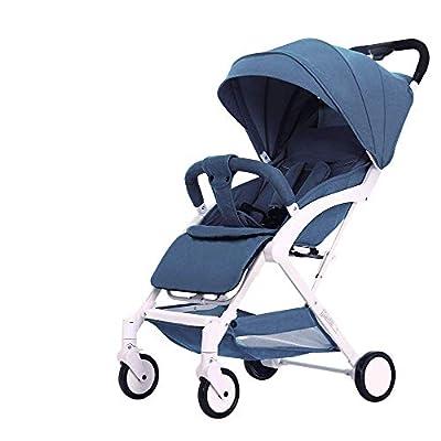 BJYX hotmomm-Baby Stroller - Silla de Paseo portátil y Liviana, Puede Sentarse en un Carrito de bebé Que Puede acostarse y doblarse, un Nuevo Cochecito con toldo