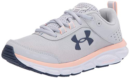 Under Armour Women's Charged Assert 8 Running Shoe , Halo Gray (105)/White, 9.5