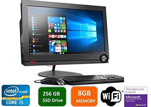Lenovo ThinkCentre M800Z 21.5 in HD+ All-in-One Desktop Computer, Intel Quad Core i5-6500-3.2 GHz, 8GB RAM, 256GB SSD HDD, USB 3.0, DVDRW, DiaplayPort, RJ-45, Windows 10 Professional (Renewed)