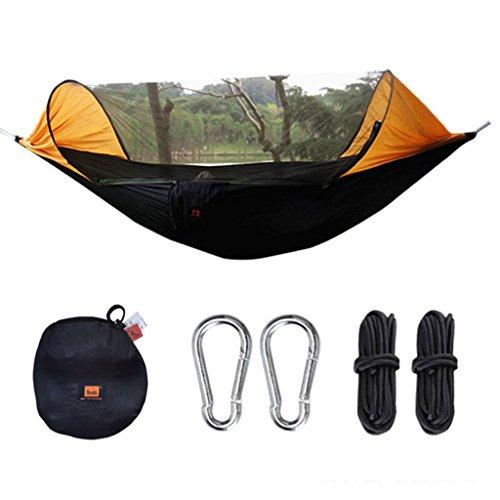 Hamacs extérieur moustiquaire Ultra léger Respirant intérieur Camping Swing Jardin et Patio (Color : Orange, Size : 290 * 145cm)