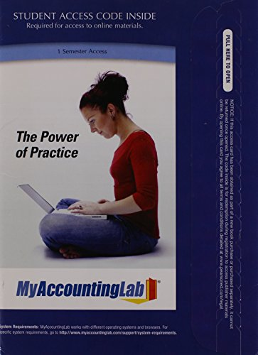 Price comparison product image MyAccountingLab 1 Semester Access Pass Code: The Power of Practice