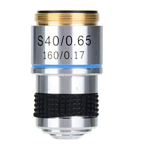 Vikye Mikroskop Objektive, 40X 160/0,17 Achromatische Objektive Linse für 185 Biologisches Mikroskop