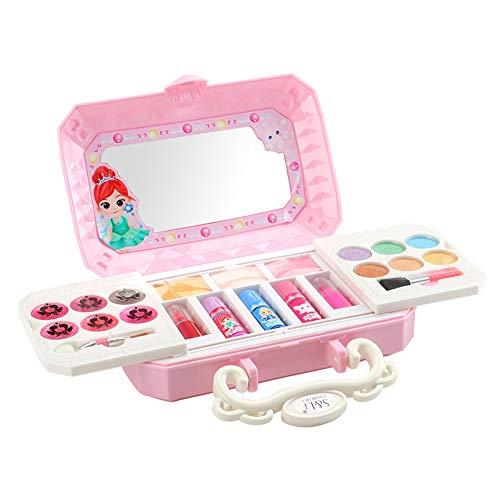 Paleta de maquillaje para niñas Kit de cosmético lavable Juego de maquillaje...