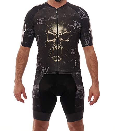 Manzur Cycling Design Conjunto Ciclismo Mallot Cullot Metallica (l)