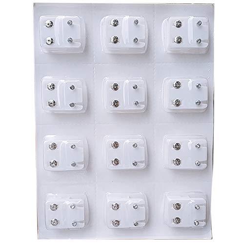 1 Caja Traspasado Pendientes De Blancos Pernos Prisioneros del Oído para Los Colores Perforación Pistola Decoraciones para El Pendiente De Las Mujeres De Reemplazo