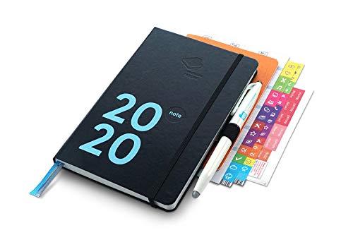 weekview compact note Premium 2020 | Mit Froschtasche, Stiftschlaufe, Stift, Griffregister, Tafelplaner und A6 weekdori notes