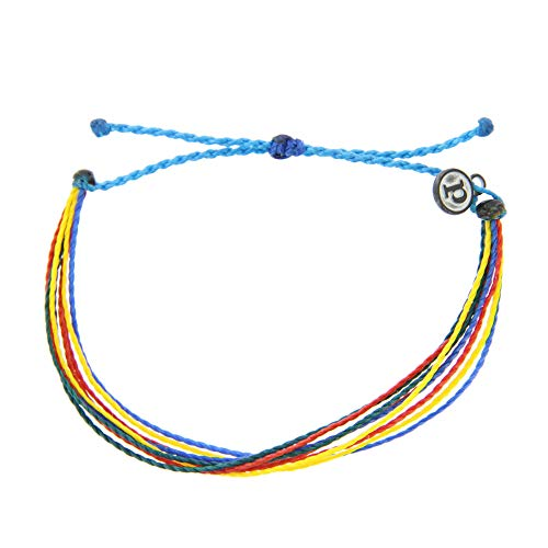 Pura Vida Autism Awareness Bracelet - Waterproof, Artisan Handmade, Adjustable, Threaded, Fashion Jewelry for Girls/Women